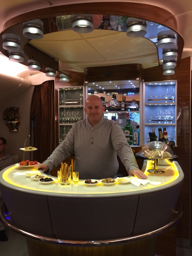 Bar Service at 40,000 feet!